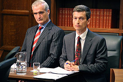 Mssrs. Bannerman and Tench in the dock at the Ecocide Trial